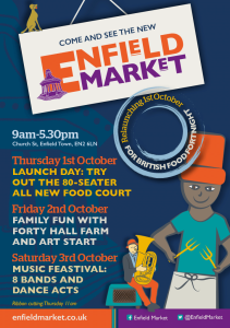 Promotional launch flyer and poster for the market