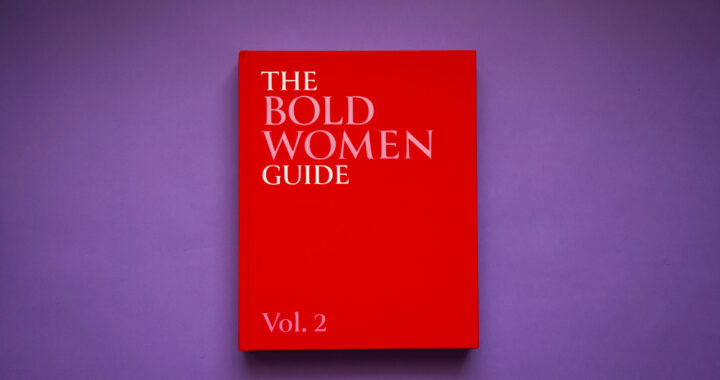 Image of the bold book featuring a red cover