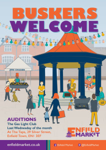 Buskers Welcome poster