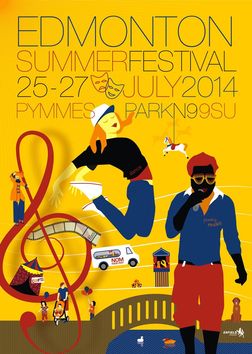 Edmonton Summer Festival poster design