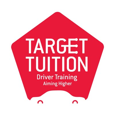 Target Tuition logo showing a car in the negative space and a gear stick in the E