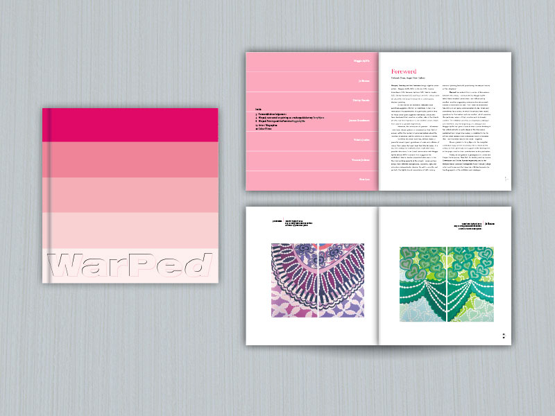 Warped art catalogue brochure design