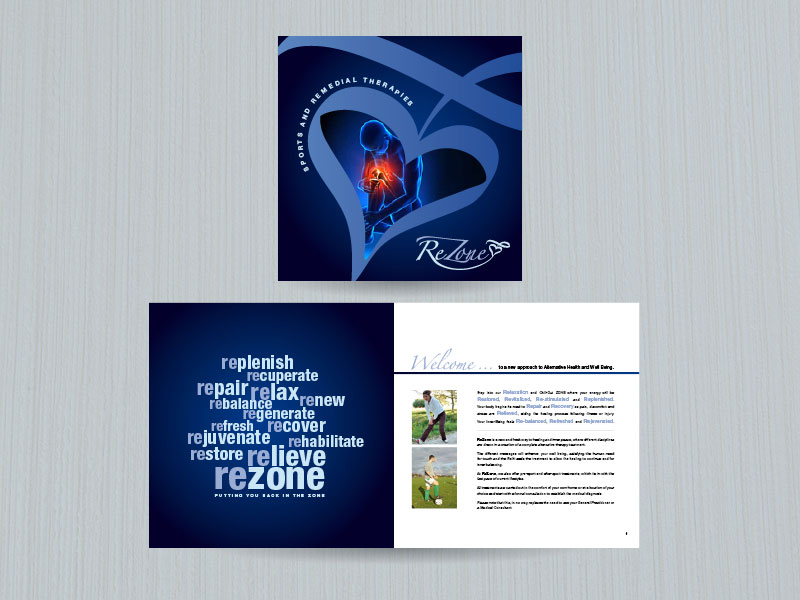 Rezone sports therapy brochure design