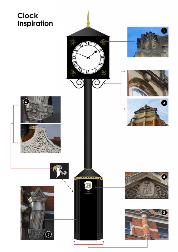 The Triangle Clock - Architectural Inspiration