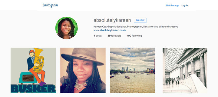 instagram profile photo of absolutely kareen