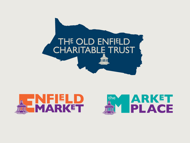 Logos for The Old Enfield Charitable Trust and Enfield Market