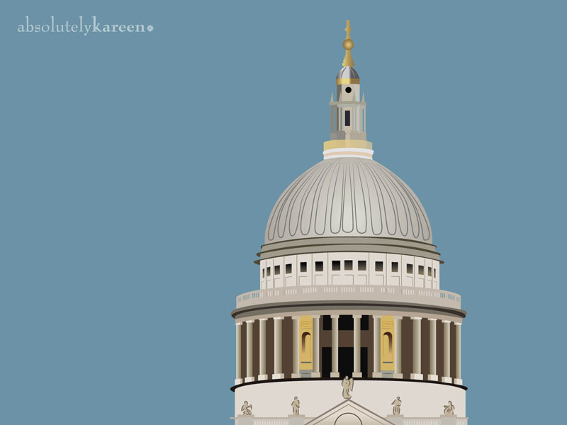 St Pauls Cathedral illustration