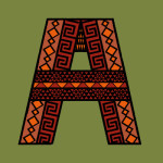 reds and oranges african fabric type design