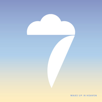 seven with a top stroke looking like clouds