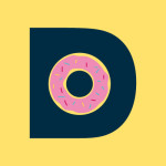 A doghunt makes up the internal hole of the letter D