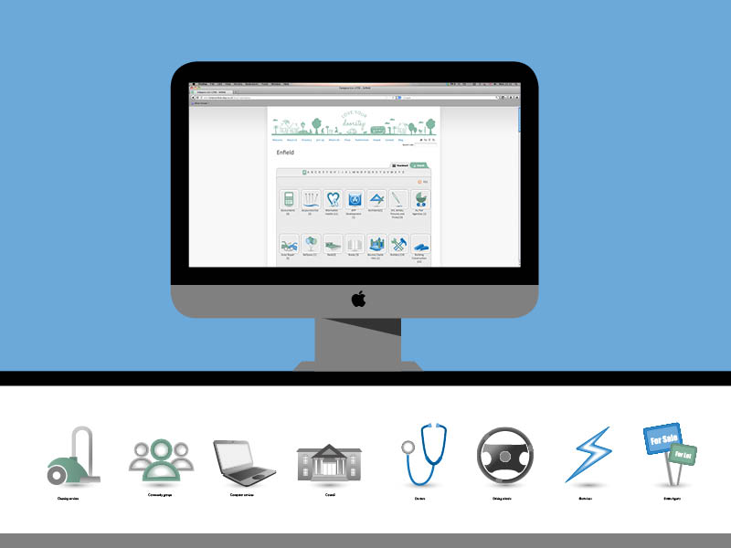 Website icons for the business directory for Love Your Doorstep