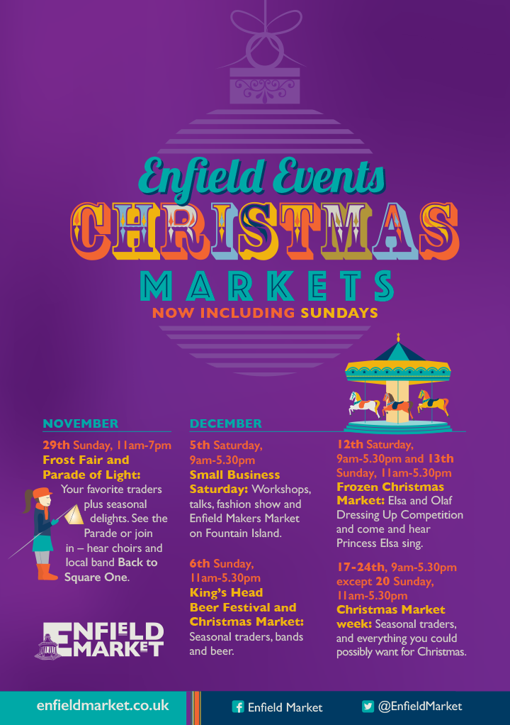 Christmas market events at the Market Place